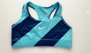 Blau-Schwarzer Nike Sport Bh
