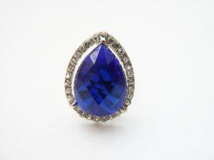 Statement ring lichtgrijs-blauw