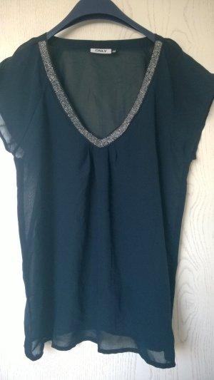 blau-transparentes Shirt/Bluse von ONLY