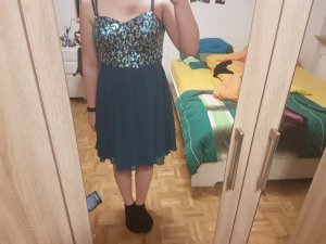 Blau türkises Abend kleid