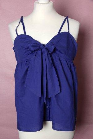 Blau-violettes Oversized Oberteil mit Schleife NEU #H&M