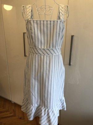 Blau/Weis gesteiftes Kleid mit Rüschen- Ann Taylor aus NY - 36