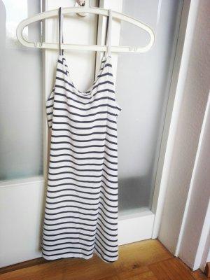 Blau Weis gestreiftes Kleid
