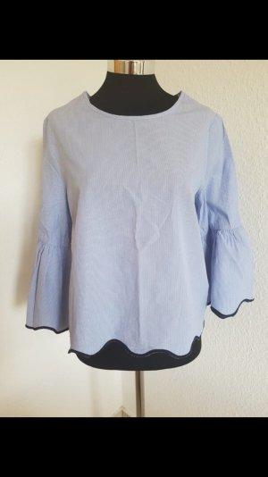 Zara Short Sleeved Blouse azure-white