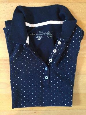 Blau-weiß gepunktetes Poloshirt von H&M