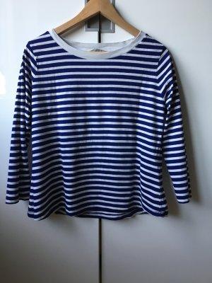 blau weiss geringeltes cropped Shirt