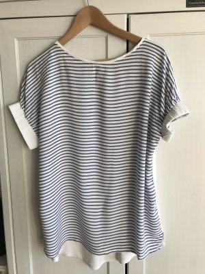 Blau-weiß geringeltes Shirt von Promod in Größe M