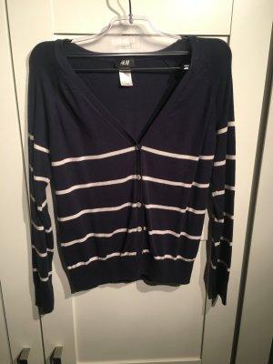 Blau-weiß gestreifte Basicweste von H&M