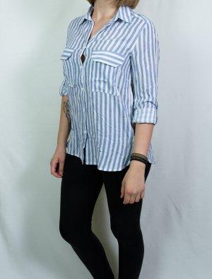 Blau weiß gestreifte Bluse