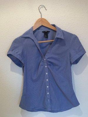 Blau-weiß gestreifte Bluse von H&M Größe 38