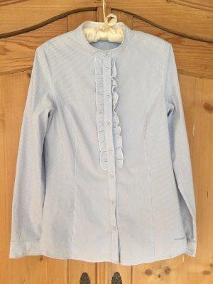 Blau-weiß gestreifte Bluse von More&More