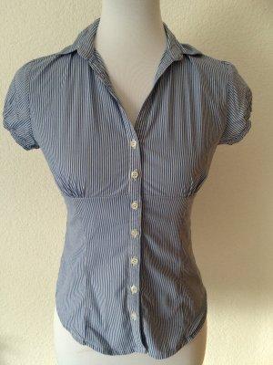 blau-weiß gestreifte Bluse von Pimkie - Gr. XS