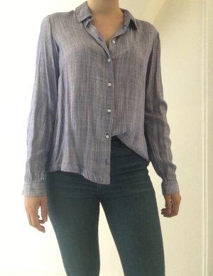 Blau-Weiß-Gestreifte Bluse von Zara