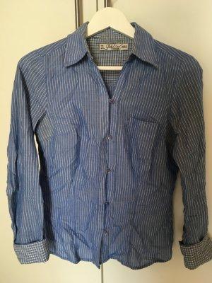 Blau Weiß gestreifte Bluse von Zara