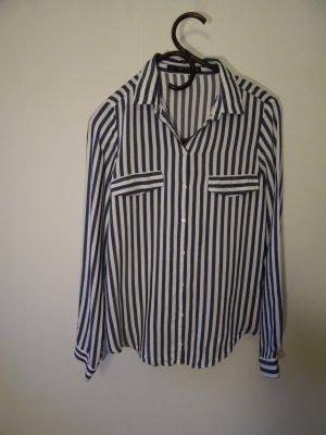 Blau/weiß Gestreifte Bluse von Zara Gr. S, 36 - Neu ohne Etikett