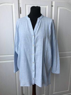 Blau weiß gestreifte Bluse von Zara Größe XS S locker Oversize