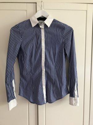 Blau weiß gestreifte Bluse Zara