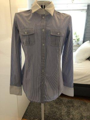 Blau-weiß gestreifte Esprit Collection Business Bluse- 38