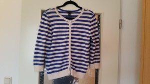 Blau-weiß gestreifte H&M Strickjacke