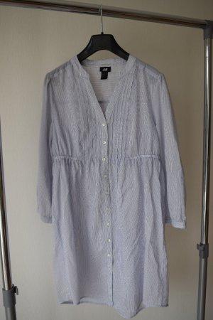 Blau- weiß gestreifte long Bluse