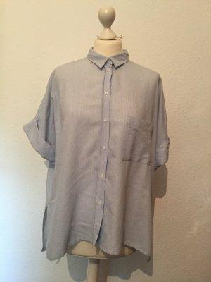 Blau-weiß gestreifte Oversized-Bluse NEU