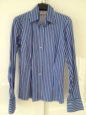 Blau-weiß gestreifte Umani-Bluse