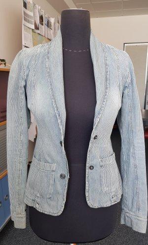 Le Temps des Cerises Blazer en jean multicolore coton