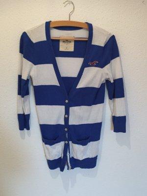 Blau-weiß gestreifter Cardigan von Hollister Größe S