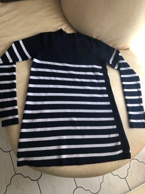 Blau - Weiß gestreifter Pullover von Zara