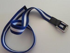 blau weiss gestreifter Stoffgürtel 34-38 NEU