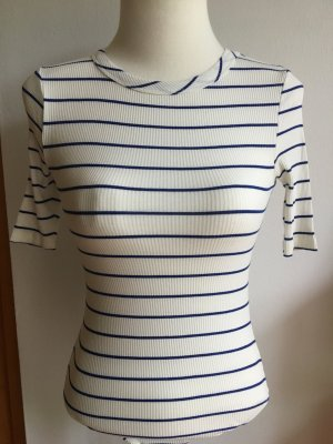 Topshop Shirt Body blue-white