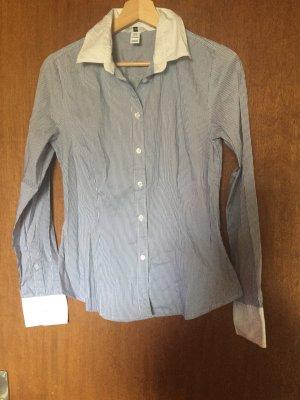 blau, weiß gestreiftes Hemd H&M