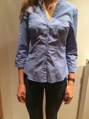 blau-weiß gestreiftes Hemd in Gr.36 von H&M
