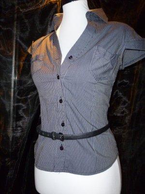 Blau-weiß gestreiftes Hemd made in Italy