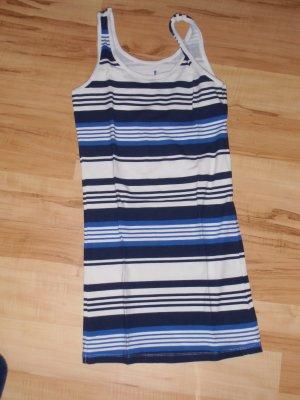 blau weiß gestreiftes Longshirt