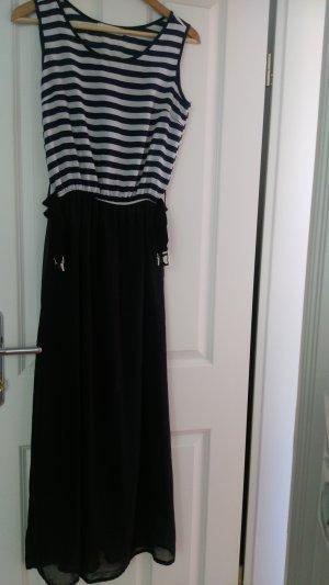 Asos Maxi Dress blue-white