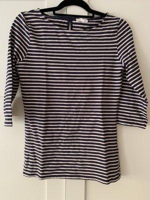 armedangels Boatneck Shirt white-blue
