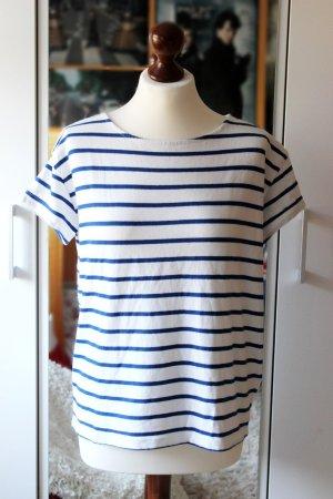 Blau-weiß gestreiftes oversize Shirt Marine H&M 36 38 S