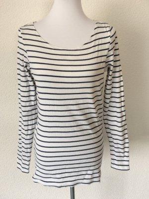 blau weiß gestreiftes Shirt / Langarmshirt / Longshirt von Esprit - Gr. XL