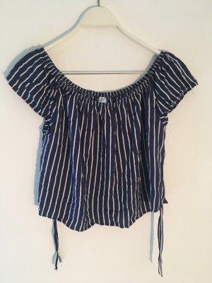 blau weiß gestreiftes T-shirt   H&M