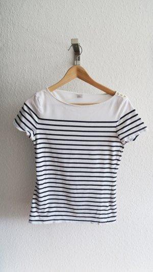 blau weiß gestreiftes T-shirt von H&M Größe M maritim
