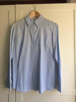 Blau weiß karierte Bluse