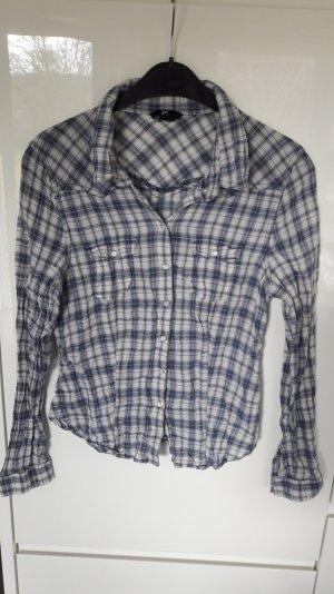 blau/ weiß karierte Bluse/ Hemd von H&m