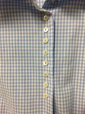gössl Folkloristische blouse wit-azuur Katoen