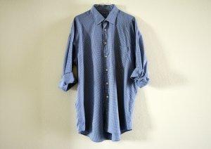 blau weiß kariertes Männerhemd von Joop Hemdkleid oversized Blusenkleid Blogger
