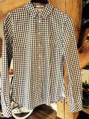 blau weiß karriertes Hemd