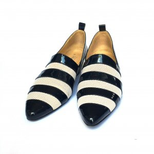Wood Wood Loafers donkerblauw-wit