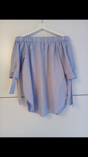 Blau Weiße Bluse