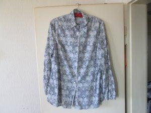 blau-weiße Bluse Größe L