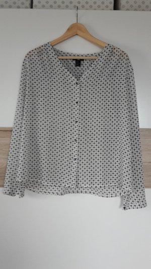 blau-weiße Bluse von H&M